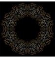 Gold circular pattern on black backgroud vector image vector image