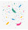 golden confetti vector image