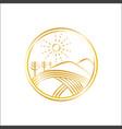 golden hills logo vector image