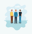 group of men friends characters vector image vector image