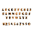 grunge alphabet dirty painted english letters set vector image