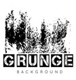 grunge texture background on white vector image vector image