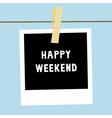 Happy weekend3 vector image vector image