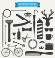 Hipster icon set vector image vector image