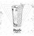 hipster realistic and polygonal cocktail mojito vector image vector image