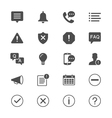 Information and notification flat icons vector image vector image