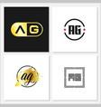 initial letter ag logo template design vector image