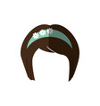 japanese girl hairstyle icon vector image vector image