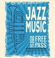 jazz musical festival flyer vector image vector image