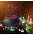 Magic Bottles Of Potion Composition vector image