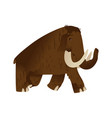 mammoth ice age animal cartoon icon vector image