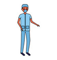 medical people staff vector image vector image