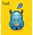 Meditation monster in the Lotus position vector image vector image