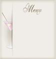 menu vertical martini vector image vector image