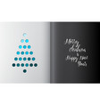 minimalistic christmas tree made from holes vector image vector image