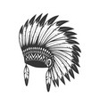 native american headdress design element for logo vector image