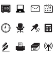 office tools and stationery icons set vector image vector image