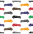 old simple various color car seamless pattern vector image