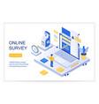 online survey checklist questions vector image vector image
