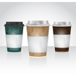 Paper Cup for take away coffee or tea vector image vector image