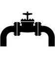 pipe valve oil pipeline with tap icon vector image