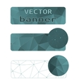 polygon abstract banner vector image vector image