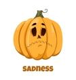 Pumpkin for Halloween Emotions Sadness vector image vector image