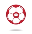 red football icon with maple vector image vector image
