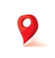 red map marker icon flat vector image vector image