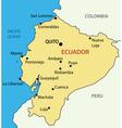 Republic of Ecuador - map vector image vector image