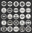 retro vintage badges and labels collection 2 vector image vector image