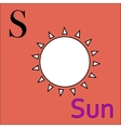 S letter alphabet Coloring book sun vector image vector image