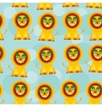 Seamless pattern with funny cute lion animal on a vector image vector image