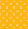 seamless pattern with honey bees line icons vector image vector image
