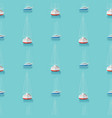 seamless pattern with yachts in the blue sea vector image vector image