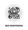 SEO Audit Line Icon vector image vector image