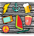 Set of colorful cartoon patches or stickers vector image vector image