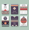 set of geometric abstract colorful flyers ethnic vector image vector image