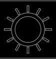 sun the white path icon vector image vector image