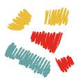 textured crayon stroke set grunge chalk vector image