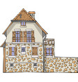 traditional french stone house vector image vector image