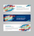 web banner layout templat design vector image vector image