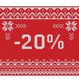 winter sale discount banner knitted background vector image vector image
