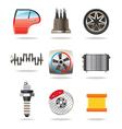 Car parts and symbols vector image