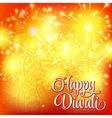 Happy Diwali festival of lights Fireworks on vector image