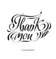 Thank you handwritten dark vector image
