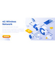 4g network wireless technology vector image vector image