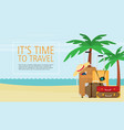 a tropical sea island flat design vector image vector image