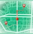 abstract city map gps and navigation concept vector image vector image