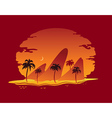 abstract landscape tropical beach vector image vector image